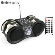 Retekess V113 FM Radio Stereo Digital Radio Receiver Speaker USB Disk TF Card MP3 Music Player
