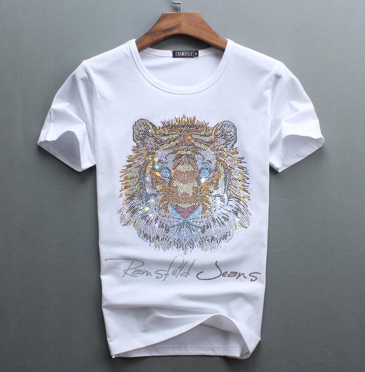 Image 5 - Luxury design of Diamonds 100% Cotton Mens top tees Designer men tshirtT-Shirts