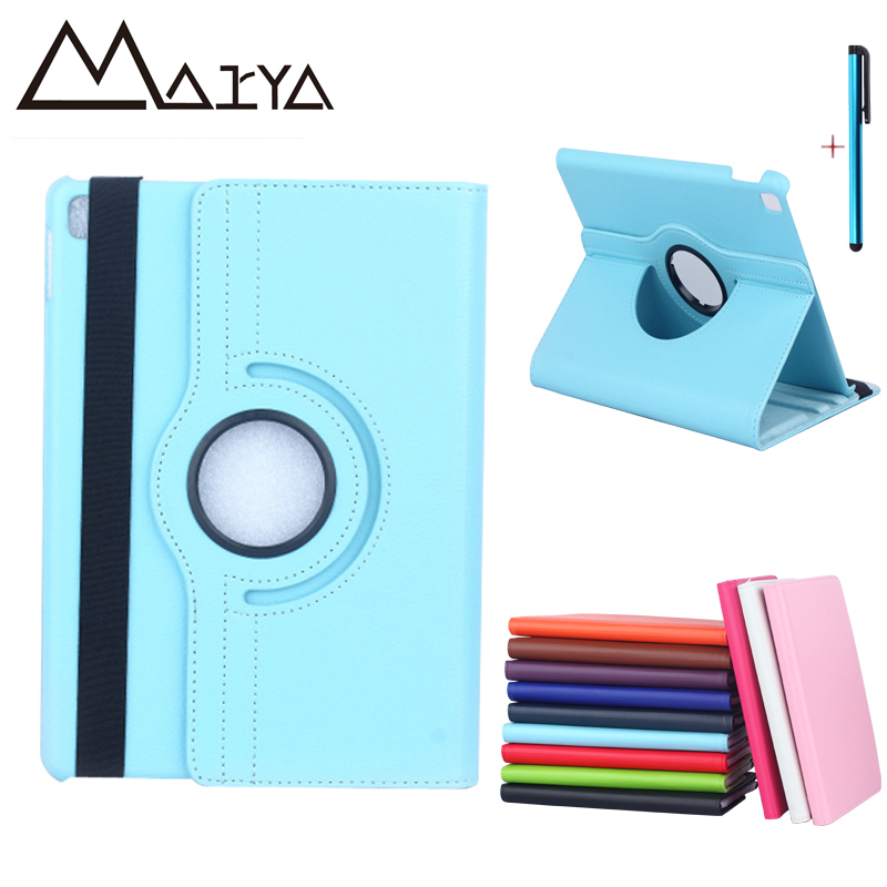 Case For iPad 2017 Case Newest Tablet Case 360 Rotating PU Leather Smart Flip Stand Protectior Film Cover For iPad 9.7 inch 2017 fineshow for ipad pro 9 7 inch tablet case 360 rotating fashion pu leather flip case folio stand screen protective smart cover
