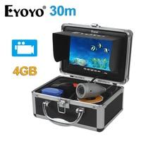 EYOYO Original 30M Full Silver Video Fish Finder 1000TVL Underwater Fishing Camera White LED Video Recording