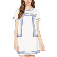 New European Embroidery Lace Dress Ladies Casual Straight Woman Dress Cheap Clothes China Online Shopping Okl806