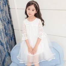 134fbf554f999 Çocuklar Kızlar Için Elbiseler Gelinlik Kız Parti Elbise Çocuk Giyim 2019  Yeni Dantel Örgü Prenses Elbise