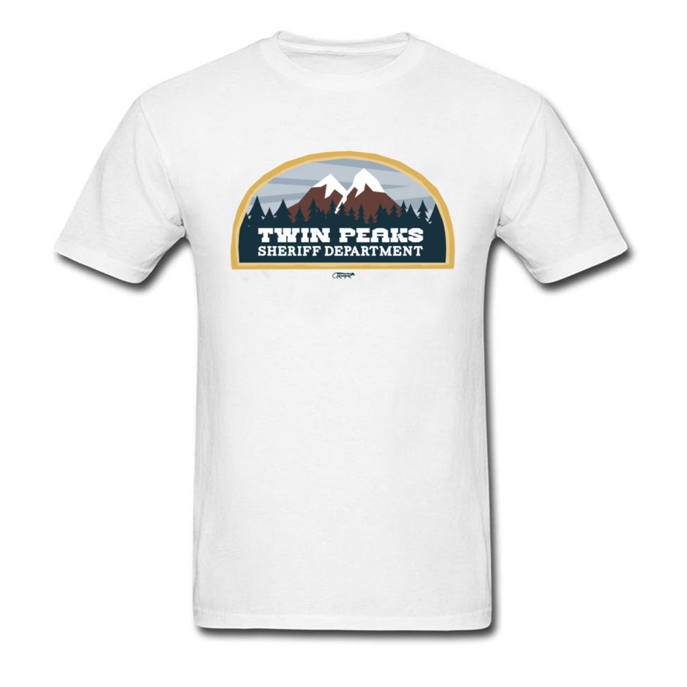 Homme T-Shirt Taille Plus XXXL Summer Male Tshirts 100% Cotton With Round Collar Street Style Twin Peaks Sheriff Department