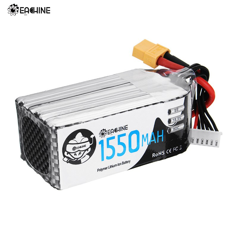 Eachine Wizard TS215 FPV Racing Drone RC Quadcopter Spare Part 5S 18.5V 1550mAh 80C Lipo Battery Rechargeable W/ XT60 Plug 2018 newest for infinity 14 8v 1800mah 4s1p 80c sy60 xt60 plug rs force edition lipo battery for rc racer drone quadcopter power