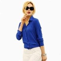 Blusas Femininas 2017 Women Shirt Chiffon Tops Elegant Ladies Formal Office Blouse 5 Colors Work Wear XXL WCX565