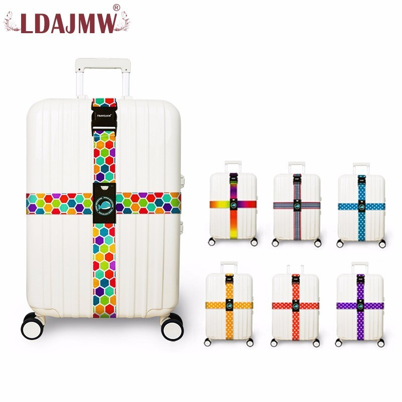 Baggage Belt For Luggage Suitcase Strap Cross Safe Secure Travel Protective Length 2M/2.3M Double Protective Luggage Bring Trunk dolphins st silly squirrel ab