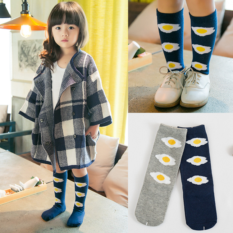 Baby-Socks-Cartoon-High-Knee-Socks-Girls-Children-Cute-Poached-Egg-Boys-Tube-Meias-NewBorn-Long-Socks-Cotton-Leg-Warmer-Brand-1