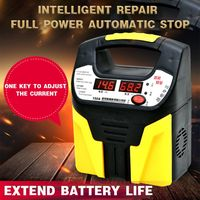 New 12V 24V Car And Motorcycle Battery Charger Full Intelligent Automatic Universal Battery Copper Charger qiang|  -
