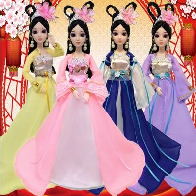 2019 Mode Speciale Aanbieding Verkoop Chinese Traditionele Pop 30 Cm 3d Ogen 12 Gewrichten Poppen Voor Meisjes Speelgoed Voor Kinderen Kid Verjaardag Gift Versterkende Taille En Pezen