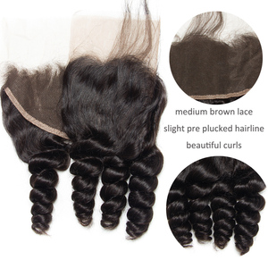Image 5 - Alibele Peruvian Loose Wave 3 Bundles With Frontal Closure Remy Human Hair Weave Extension Pre Plucked Frontal With Bundle