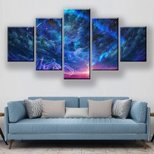 HD Print 5 Piece Abstract Canvas Art Poster Color Sky Cartoon Paintings On Wall For Home Decorations Decor Framework