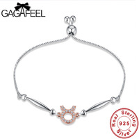Gagafeel Taurus Star Sign Bracelets Bangles For Women Trendy 925 Sterling Silver Female Wedding Anniversary Charm