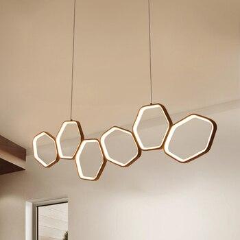Minimalizm nowoczesny wisiorek LED światła dla jadalnia kuchnia pokój dzienny biały lub kolor kawy wiszące zawieszenie lampa wisząca