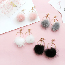 Fashion circle earrings stars Teenage fashion lint earrings