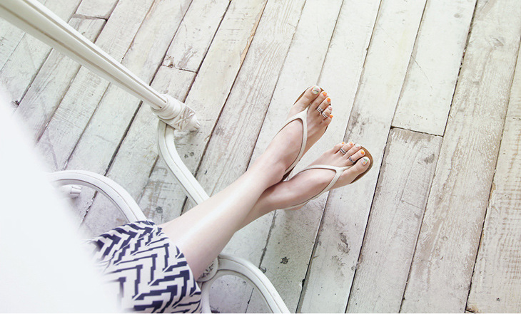 Summer Time 925 Sterling Silver Toe Rings