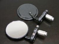 Black Carbon Fiber 7 8 Bar End Mirrors 3 For Yamaha XJ 550 600 700 750