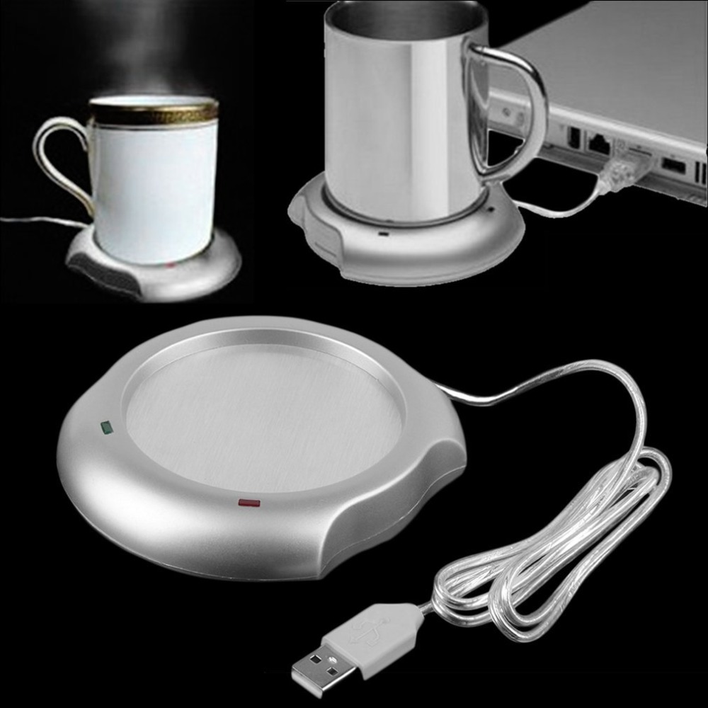 Fashionable USB Insulation Coaster Heater Heat Insulation Electric Multifunctional Coffee Cup Mug Mat Pad Home Office Accessory