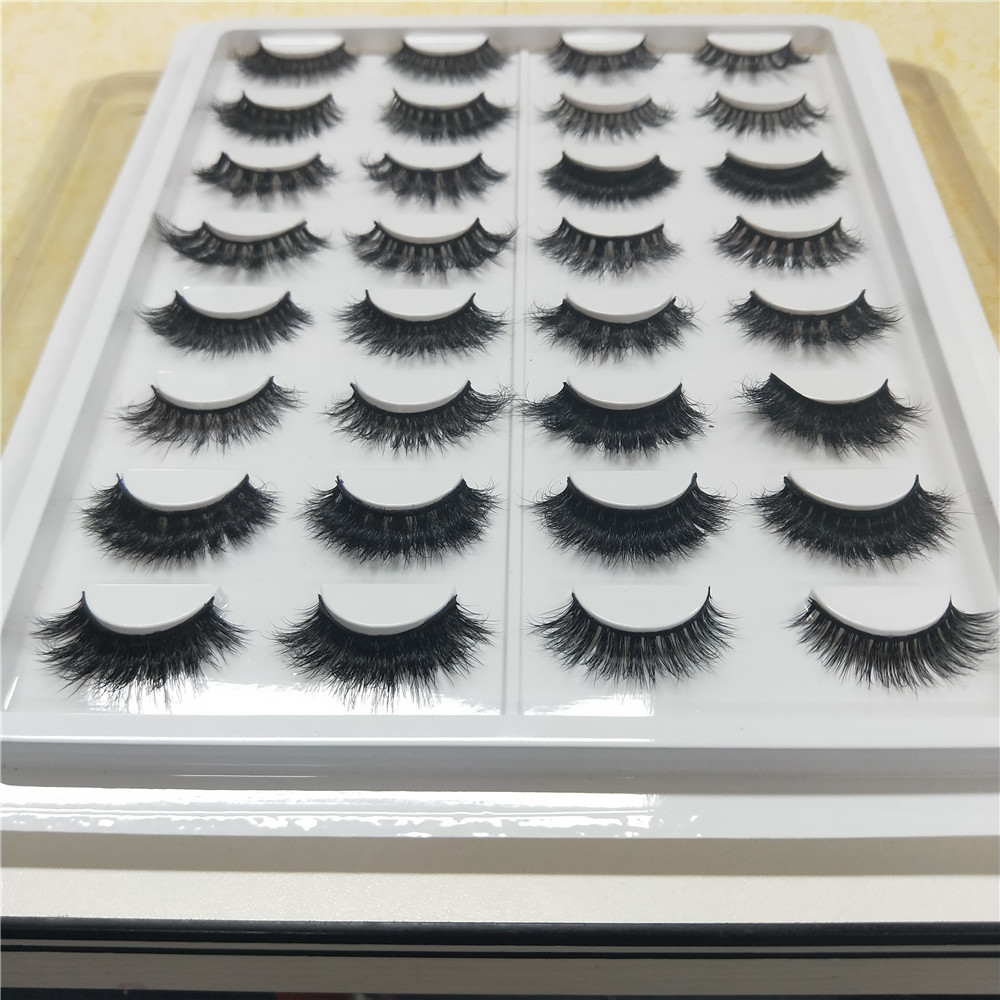 16 styles 3D Mink Lashes Eyelash Extension 100% Handmade Thick Volume Long False Lash Makeup with free shipping 10 trays volume lash 2d long stem soft eyelash false 100% silk individual lashes volume lashes can mark size lash free shipping
