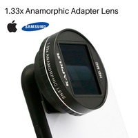 Kapkur 1.33X Anamorphic Lens for iPhone Xs Max X Huawei P20 Pro Mate Movie Shooting Phone Lens with Phone Case for Samsung S8