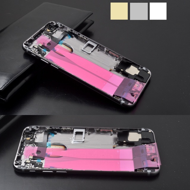 """Full Bezel Assembly + complete parts rear housing For iPhone 6 4.7"""" Back battery cover middle Frame board Metal housing+1xfilm"""