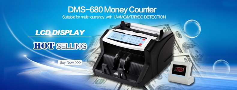 Seesii Portable Mini Handy Money Currency Counter Cash Different Bill Counting Machine AC100-240V Financial Equipment V40