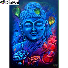 DIAPAI 100% Full Square/Round Drill 5D DIY Diamond Painting Religious Buddha Diamond Embroidery Cross Stitch 3D Decor A18795 diapai 5d diy diamond painting 100% full square round drill text moon buddha diamond embroidery cross stitch 3d decor a21533
