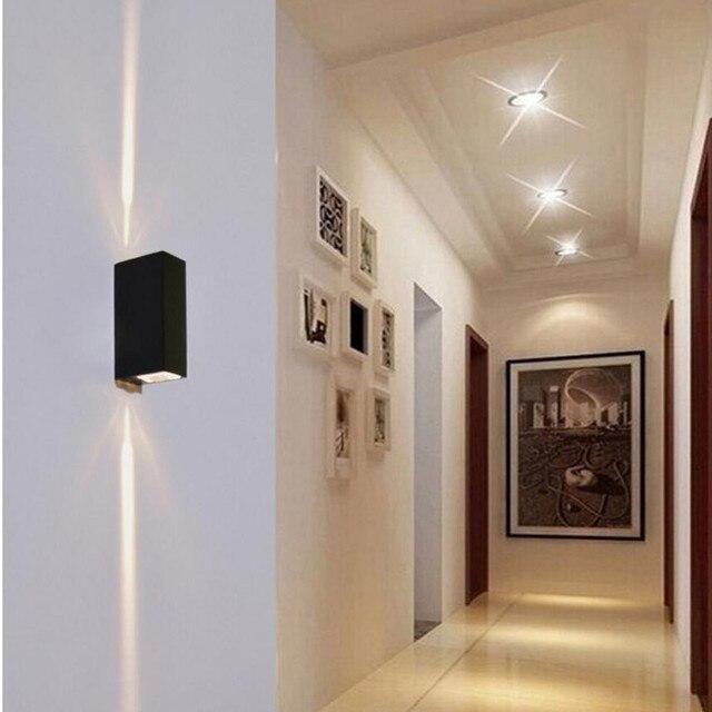 IndoorOutdoor Lighting W XW LED Wall Lamp AC V Warm Cool - Bathroom spot lights