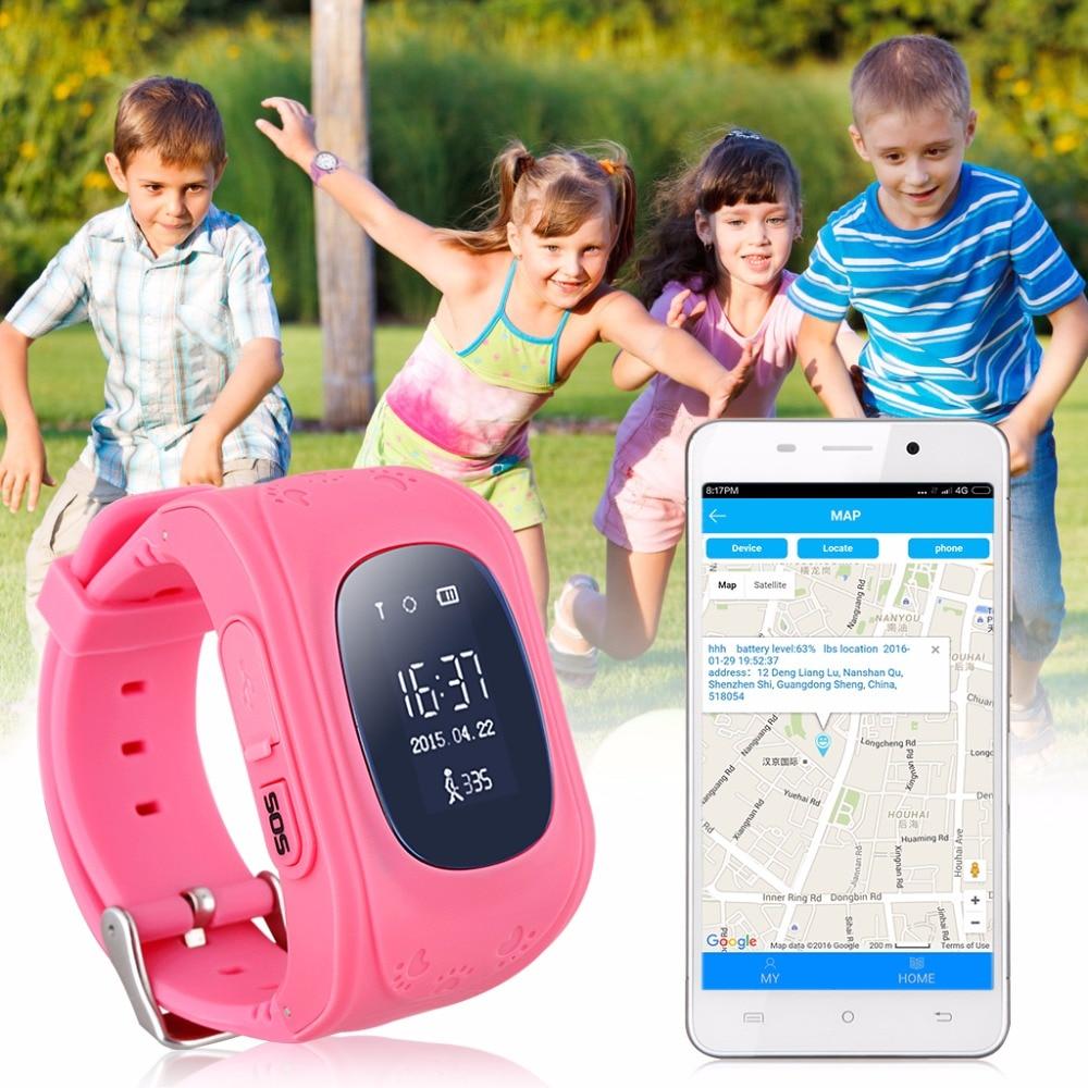 Children Smart font b Watch b font font b GSM b font GPRS GPS Locator Tracker