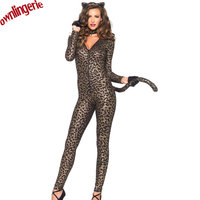 Full body Body Catsuit Zentai Unitard Elastan Lycra Tiger Leopard Wzór Halloween Party Cosplay Costume