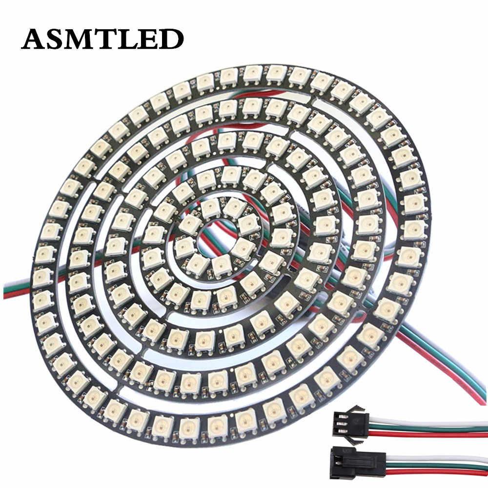 Anillo led WS2812B de pixel, LEDs WS2812 SK6812 5050 RGB ic integrado a todo Color DC5V, Panel de anillo, módulo Halo, tira de luz