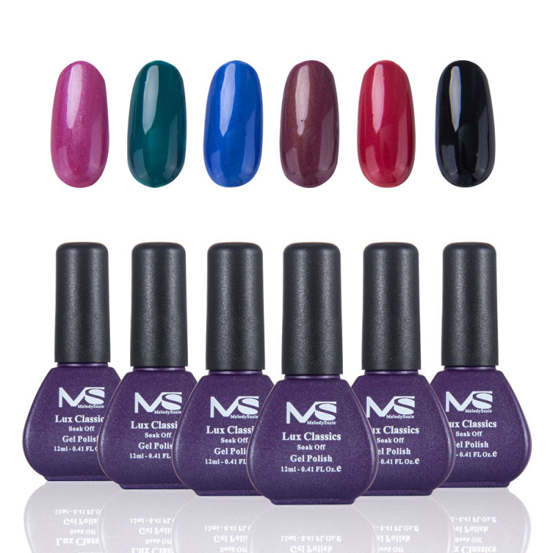 Gel Nail Polish Sale: MelodySusie 6pcs/lot Mix Color Hot Sale Gel Nail Polish