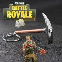 SG Hot New Game Fortnite lahing Royale 3D H6 hammer Ax relva võtmehoidjad kõrge kvaliteediga BF4 lahinguväli 4 võtmehoidja mehed poiss ehted