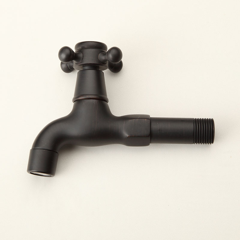 Black Kitchen Taps Only: Oil Rubbed Bronze ORB Black Long Wall Mount Bathroom
