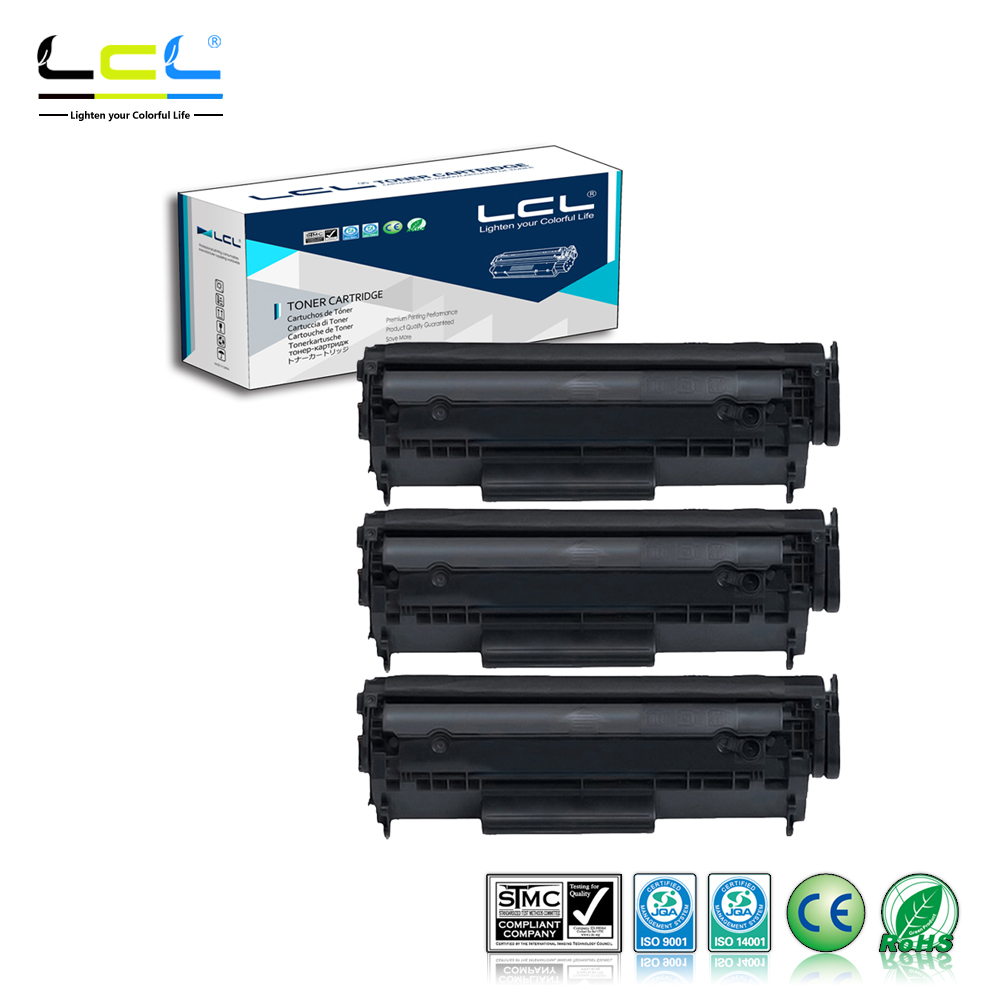 LCL CRG703 CRG-703 CRG 703 (3-Pack Black) 2500 Pages Laser Toner Cartridge Compatible for Canon LBP2900/3000