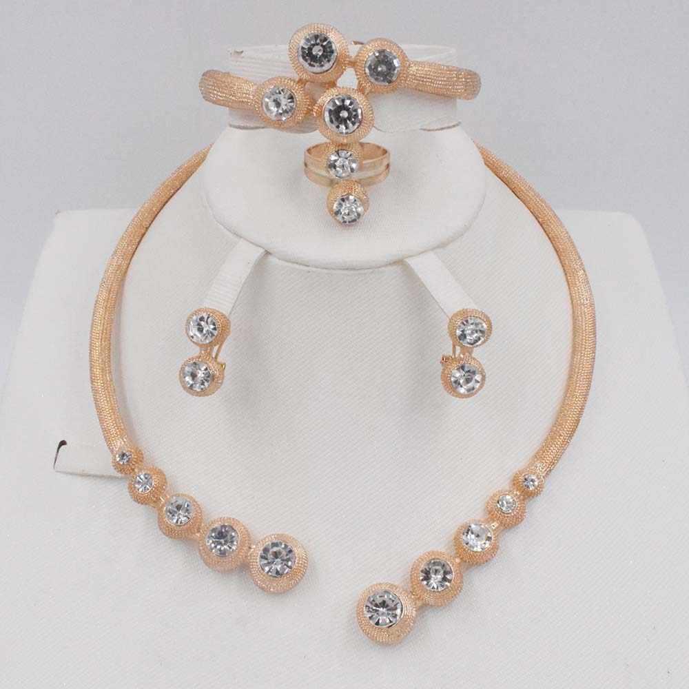 الأزياء الخرز الأفريقي طقم مجوهرات النساء الزفاف الاثيوبية Eritrean الذهب اللون الزفاف بيان شرابة قلادة طقم أقراط