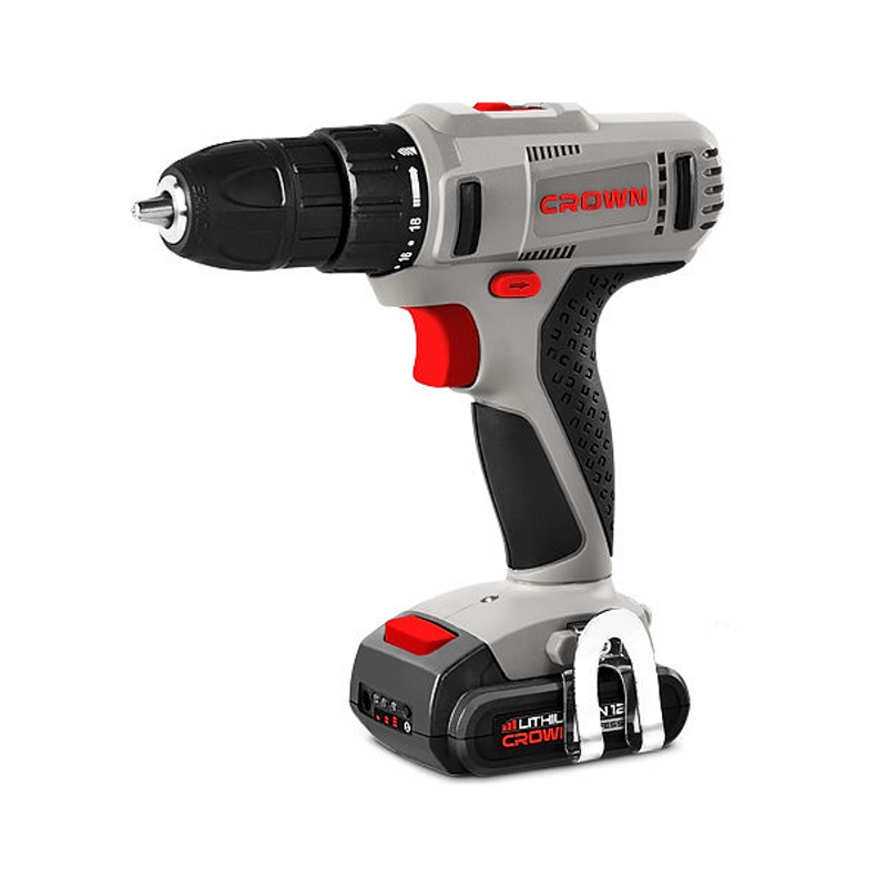 Drill electric screwdriver rechargeable CROWN CT21052LH BMC (2 speed, highlighting the work area, charge indicator, case) ось заднего колеса bmc fs01 03 sf01 03 tf01 03