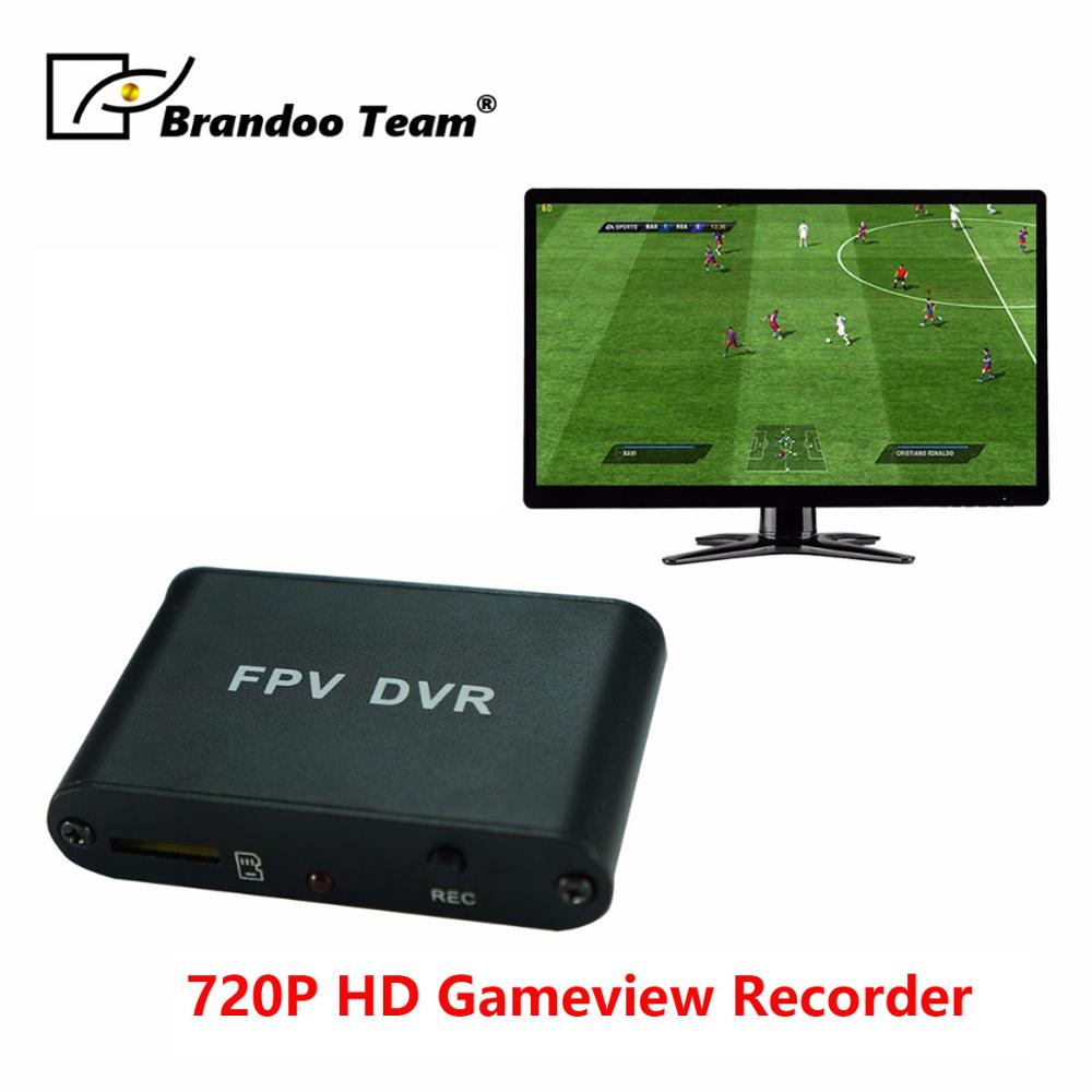 Promotion!!BRANDOO cheapest 1CH 720P HD SD DVR for CVBS Camera, Mirco Game View Recorder.Free shipping