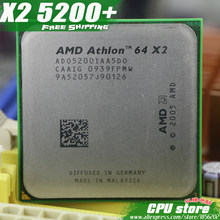 AMD Athlon 64 X2 5200+ CPU Processor (2.7Ghz/ 1M /1000GHz) Socket am2 (working 100% Free Shipping) 940 pin ,sell X2 5400+ 5000+(China)
