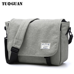 TUGUAN Men Messenger Bags Men's Fashion Business Travel Shoulder Bags female Canvas Briefcase Men Crossbody Bag Handbag XB1701T