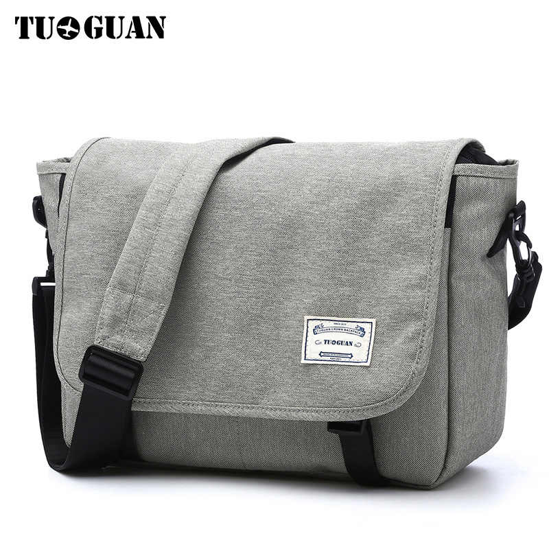 TUGUAN Men Messenger Bags Men s Fashion Business Travel Shoulder Bags  female Canvas Briefcase Men Crossbody Bag 05da746d09722