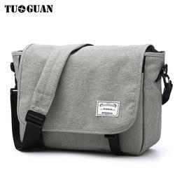 TUGUAN hombres bolsas de mensajero de los hombres de negocios de moda de bolsos de hombro mujer lona maletín hombres bolso de Crossbody del bolso XB1701T