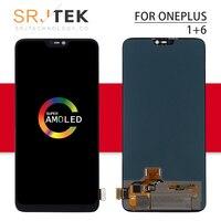 Активно матричные осид, для Oneplus 6 ЖК дисплей Дисплей Сенсорный экран планшета Панель Стекло сборки 1 + 6 шесть рамка для One Plus 6 T Дисплей A6000 A6003