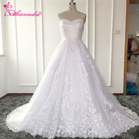 A Line Wedding Dress With Removable Lace Jacket Lace Wedding Dresses Ribbon Back Bride Dress
