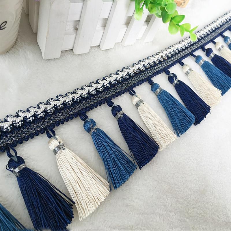 2meter/lot European Curtain Lace Tassel Fringe Tassel Hanging Ear Sofa Clothes Tablecloth Diy Clothes Decoration Arts,crafts & Sewing Tassel Fringe