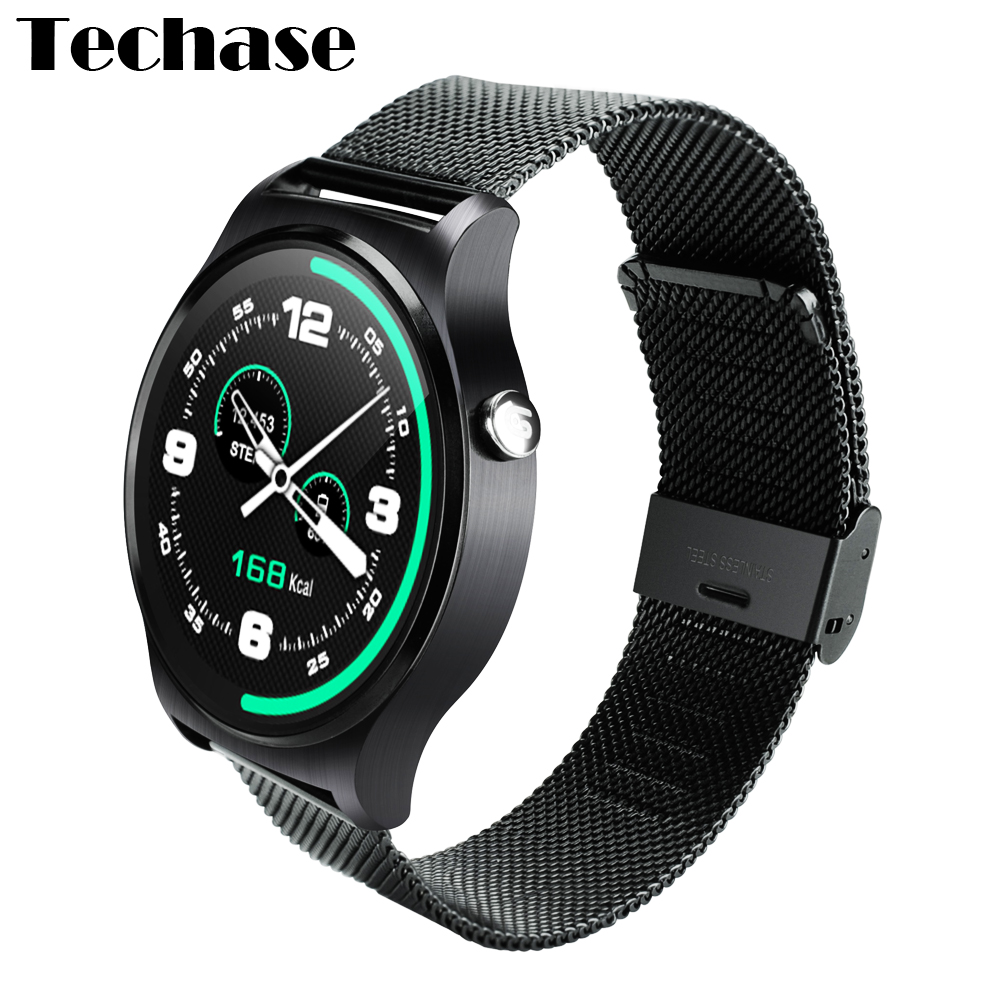 Techase Bluetooth Smartwatch Smart Health Heart Rate Monitor Watch Compatible Android IOS Relogios Electronic Wrist Watches GW01 kw18 heart rate smart watch bluetooth health smartwatch sim compatible for apple ios android