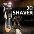 Горячая 3D Floating 360 Ротари мужская Водонепроницаемый Аккумуляторные Бритвы Бритвы Уход За Лицом
