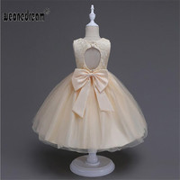 Flower Girl Dresses Princess For Weddings Bench Weddings Yellow Champagne Butterfly Embroidery Kids Dress Girl S