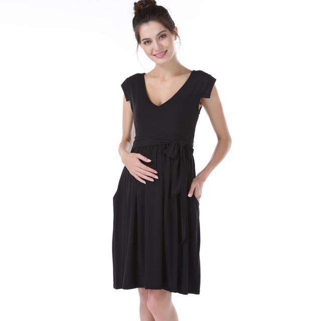5a993bd4e Con cuello en V Vestido de noche Formal para las mujeres embarazadas  elegante fajas de maternidad