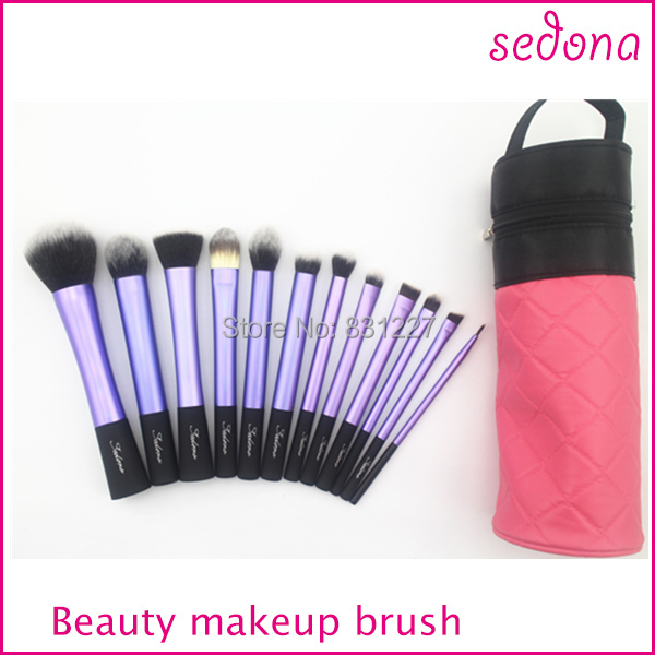 Sedona purple makeup kit with cylinder brush case,12pcs cosmetic makeup brush kit,with cute bag deep purple deep purple stormbringer 35th anniversary edition cd dvd