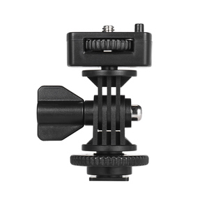 """Image 1 - Andoer Adjustable Cold Hot Shoe Mount Adapter with 1/4"""" Screw for Viltrox DC 90 DC 70 DC 50 Monitor L132T L116T LED Video Light"""